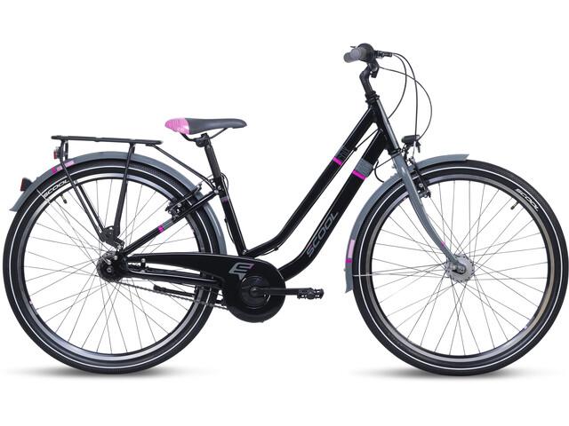 s'cool chiX twin alloy 26 7-S Kinder black/pink